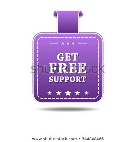 свободный поддержки фиолетовый вектор икона дизайна веб Сток-фото © rizwanali3d