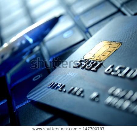 platina · hitelkártya · illusztráció · chip · retró · stílus - stock fotó © vapi