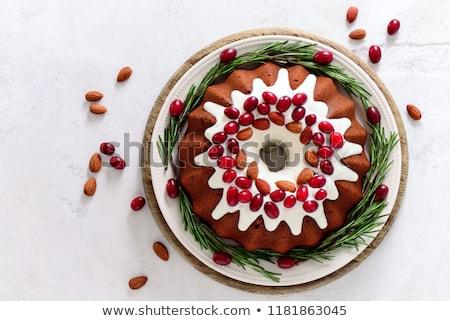 Рождества торт Spice деревянный стол оранжевый зеленый Сток-фото © tycoon
