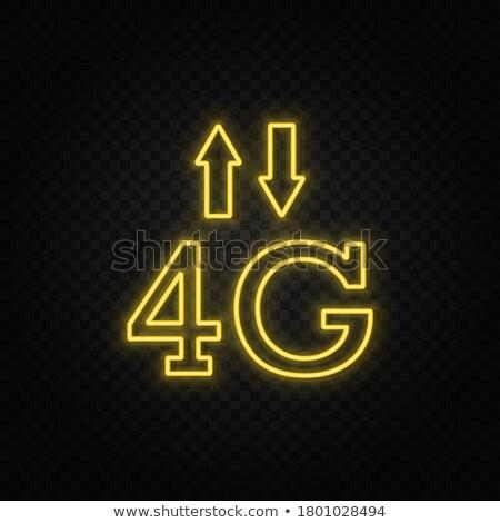 4g assinar amarelo vetor ícone projeto Foto stock © rizwanali3d