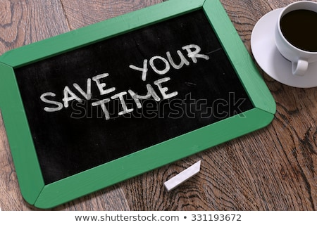 Stock photo: Manage Your Time. Motivational Quote on Small Chalkboard.