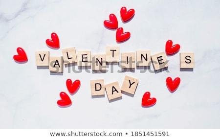 historia · día · de · san · valentín · marco · forma · corazón · amoroso - foto stock © Kotenko