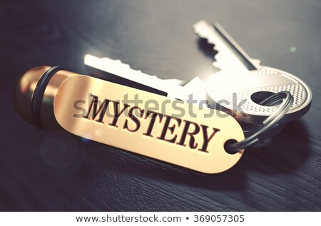 Keys with Word Mystery on Golden Label. Stock photo © tashatuvango