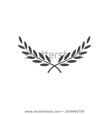 heraldic emblem with laurel wreath Stock photo © LoopAll