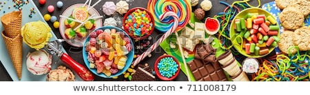 Frame of colorful assorted cookies or biscuits stock photo © ozgur