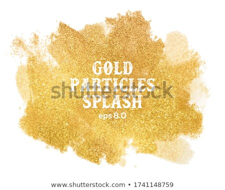 A gold and yellow sparkle card background. EPS 8 Stock photo © beholdereye