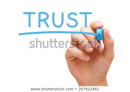 Elkötelezettség kék jelző kéz ír átlátszó Stock fotó © ivelin
