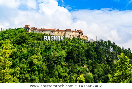 Rasnov Medieval Citadel In Romania Built Between 1211 and 1225 Stock photo © radub85