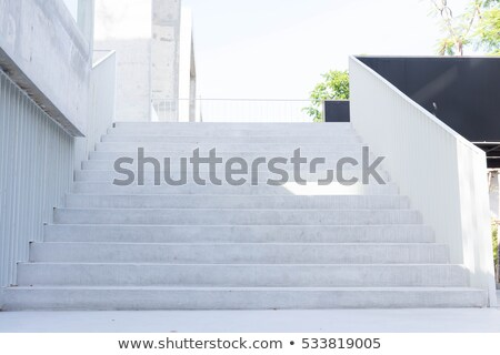 Stairs and white balustrade Stock photo © Digifoodstock