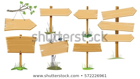 Wooden empty signboards Stock photo © bluering