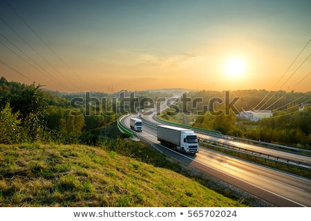 Camions trois blanche route affaires autoroute Photo stock © alphaspirit