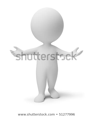 3d small people   pray stock photo © anatolym