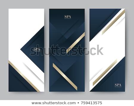 白 暗い 青 バナー セット テンプレート ストックフォト © graphicyazz