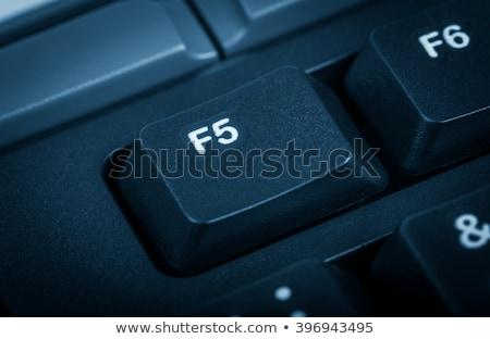 Elektronische collectie detail computer focus sleutel Stockfoto © nemalo