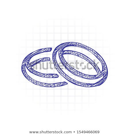 A plain sketch of a wedding ceremony Stock photo © bluering