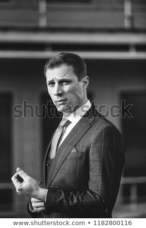 Stock fotó: Divat · stílus · fotó · jóképű · elegáns · férfi