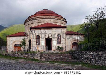 Város Azerbajdzsán hotel hegyek építészet park Stock fotó © Elnur