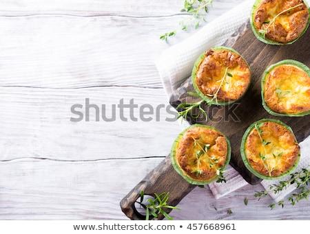 Santoreggia torta formaggio dadi primo piano Foto d'archivio © Digifoodstock