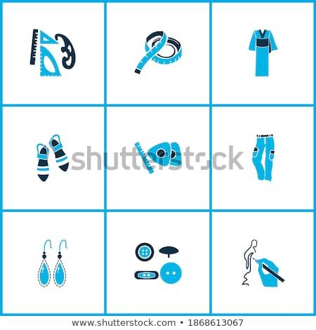 Pár fülbevalók rajz ikon vektor izolált Stock fotó © RAStudio