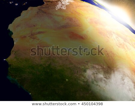 Mali and Senegal from space during sunrise Stock photo © Harlekino