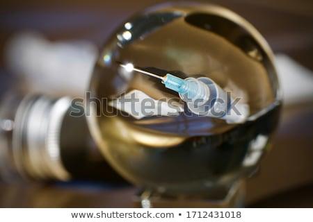 Injekciós tű labda illusztráció fehér baba száj Stock fotó © bluering