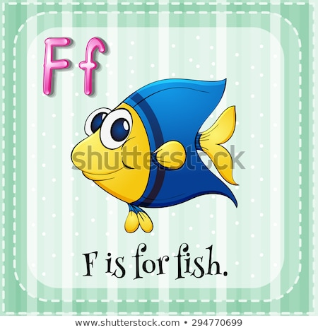 Flashcard letter F is for fish Stock photo © bluering