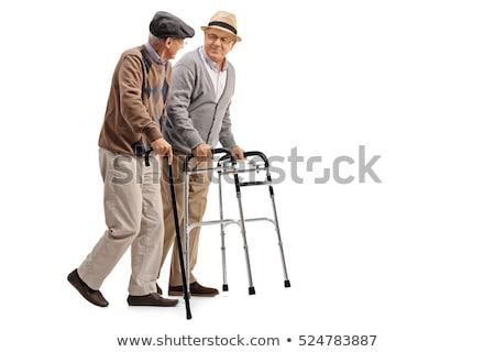 człowiek · kule · kalekiego · inwalidztwo · starszych · dziadek - zdjęcia stock © smeagorl