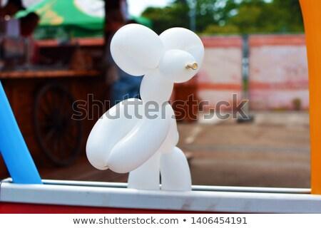 Proste balon tworzenie ilustracja biały psa Zdjęcia stock © bluering