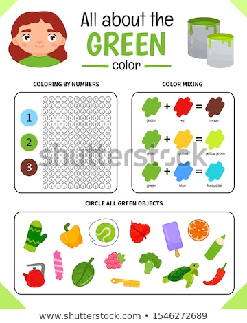 primary colors educational activity Stock photo © izakowski