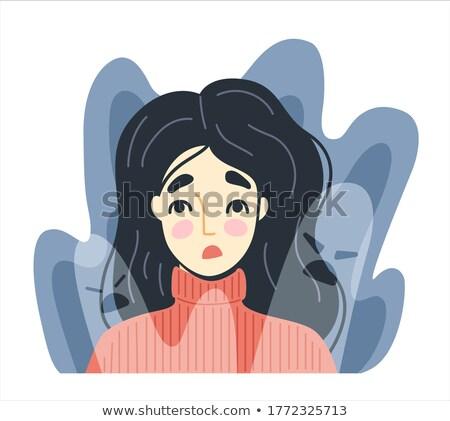ストックフォト: 女性 · 恐怖 · 飛行 · アジア · 驚いた