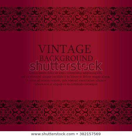 Vintage красный кружево Top вниз украшение Сток-фото © liliwhite