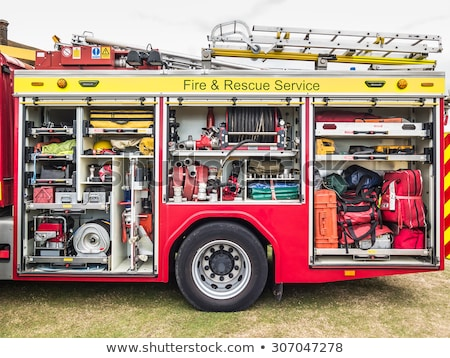 rescue equipment inside packed inside a fire truck stock photo © vladacanon