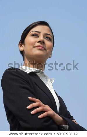 indian · business · woman · widok · z · boku · kobieta · interesu · stałego - zdjęcia stock © szefei