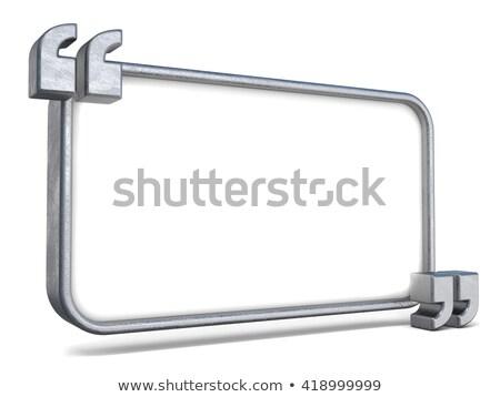 Copia spazio bianco piatto acciaio citazioni 3D Foto d'archivio © djmilic
