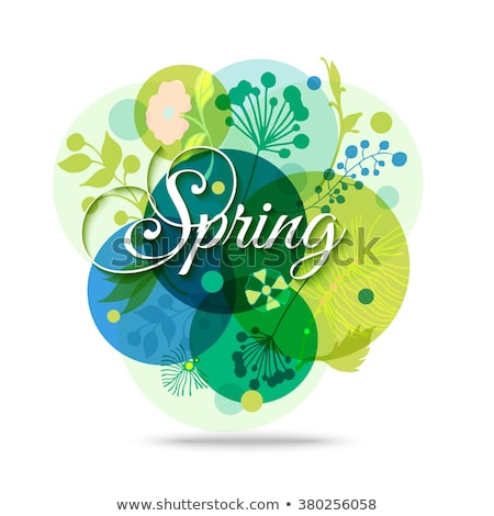 Spring background template. EPS 10 Stock photo © beholdereye