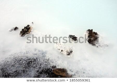 Leitoso branco azul água banho Foto stock © kb-photodesign