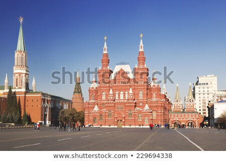 Kremlin Nikolskaya tower on Red Square in Moscow Stock photo © simply