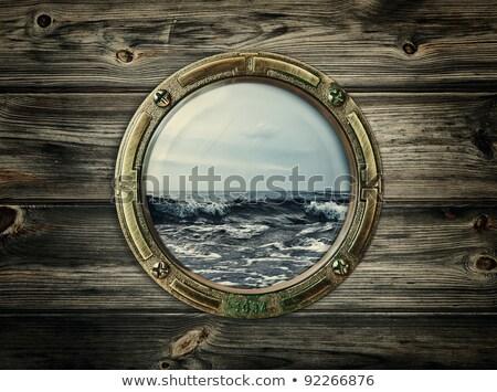 Rusty Wood Porthole Stock photo © FOTOYOU