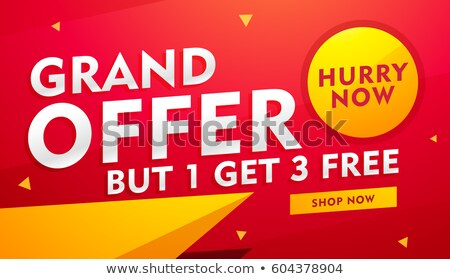 stylish sale, discount and offer banner design Stock photo © SArts