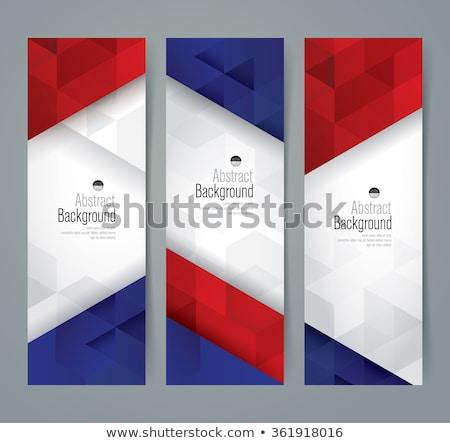 Negyedike bannerek gyűjtemény boldog háttér zászló Stock fotó © SArts