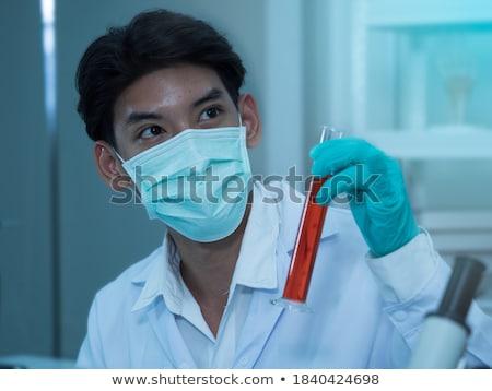 Medico tubo rosso fluido provetta laboratorio Foto d'archivio © simpson33