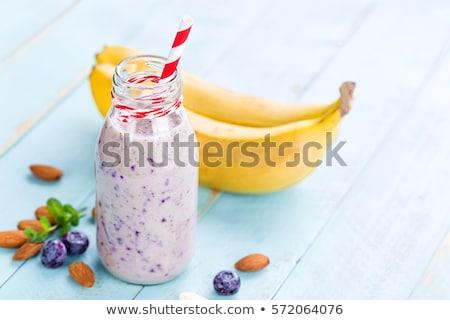 Banaan dieet smoothie yoghurt melk Stockfoto © yelenayemchuk