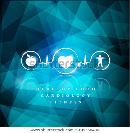 Bright cardiology symbols, healthy living concept Stock photo © Tefi
