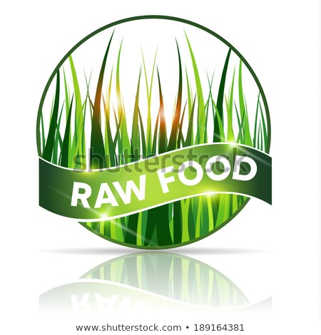 Rauw voedsel icon mooie gras illustratie vorm Stockfoto © Tefi