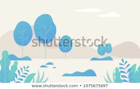green leaf vector illustration in flat design stock photo © robuart