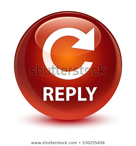 Reply rotate icon glossy brown round button Stock photo © faysalfarhan