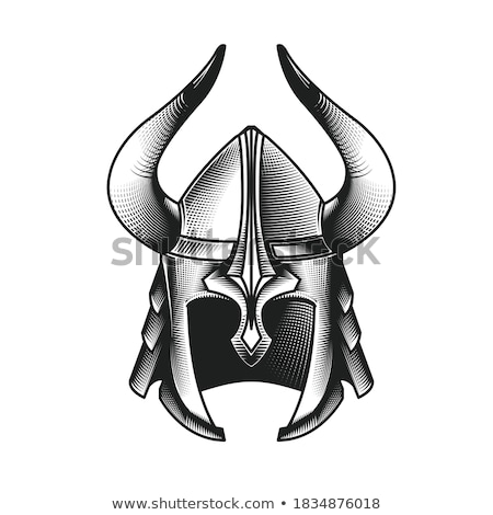 Helmet Headpiece With Horns Medieval Armour Stockfoto © GoMixer
