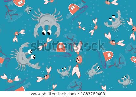 Vízalatti tapéta kastély trópusi hal tengerpart ház Stock fotó © carodi