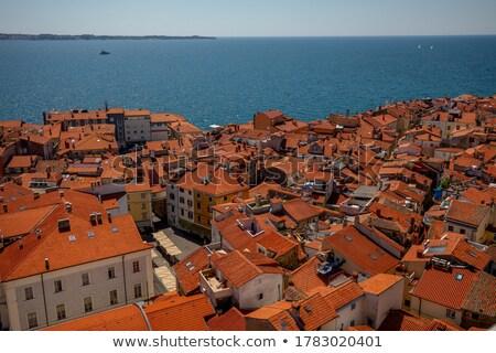 Piran rooftops over Adriatic sea in Slovenia Stock photo © stevanovicigor