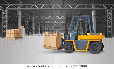 Equipment Delivery Process of Warehouse. Unloading Stock photo © robuart